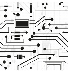 electronic circuit background vector image