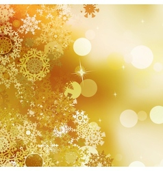 Festive gold christmas with bokeh lights eps 10 vector