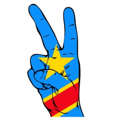 Peace Sign of the Congo flag vector image vector image