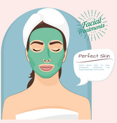 perfect skin beautiful woman vector image vector image