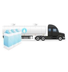 semi truck trailer concept 06 vector image