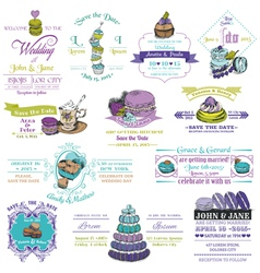 Wedding Vintage Invitation Collection - Dessert an vector image vector image