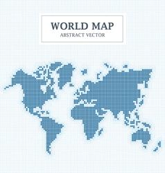 World Map Abstract Dot Design vector image vector image