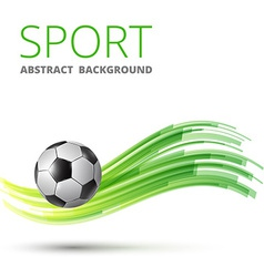 Design with football vector image vector image