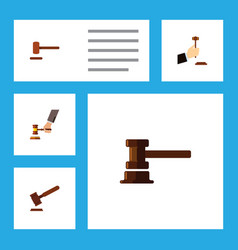 flat icon lawyer set of government building law vector image