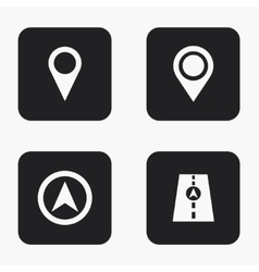 modern map pointer icons set vector image