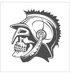 Skull roman legionary - skull in helmet vector