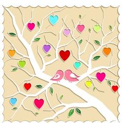 Springtime Love Tree and Birds vector image