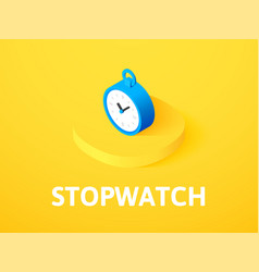 stopwatch isometric icon isolated on color vector image