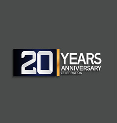 20 years anniversary logotype with blue vector