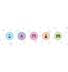5 flask icons vector