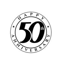 50 th anniversary vector