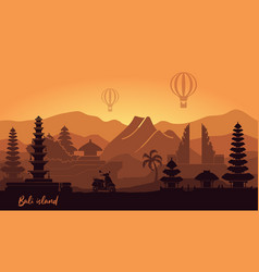 Abstract landscape indonesian island vector