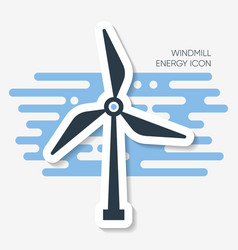 Abstract windmill energy label with shadow vector