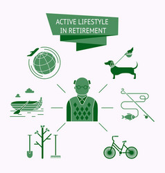 Active lifestyle icon set vector
