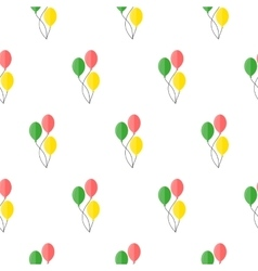 Balloons seamless pattern vector image
