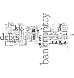Bankruptcy mistakes to be avoided vector