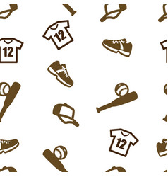 baseball pattern seamless isolated set vector image