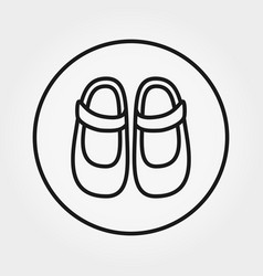 bashoes icon editable thin line vector image