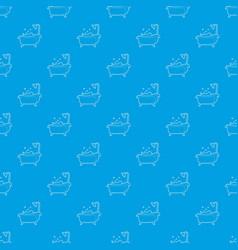bath pattern seamless blue vector image