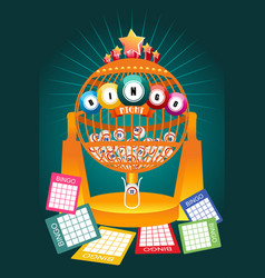 bingo night game poster vector image