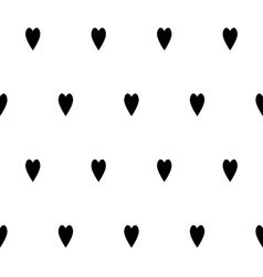 Black and white seamless pattern with hearts vector image