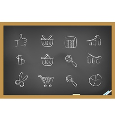 Blackboard icons vector