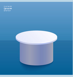 Blue studio background with product display stand vector