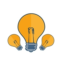 bulb light education icon vector image
