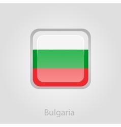 Bulgaria flag button vector