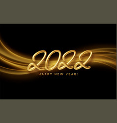 calendar header 2022 with golden waves swirl with vector image