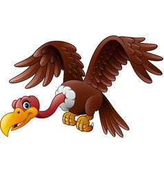 cartoon vulture flying vector image