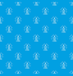 cleaning wash pattern seamless blue vector image