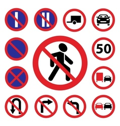 color traffic auto signs vector image