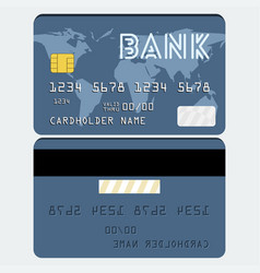 credit card in flat style vector image