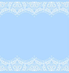 decorative border from white snowflakes vector image
