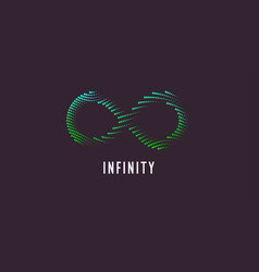 dynamic waves form a sign infinity vector image