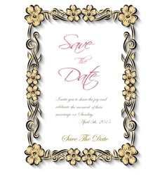 Flotal frame Silhouette for invitation and vector