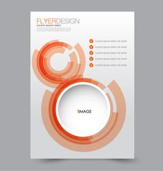 flyer design background brochure template vector image