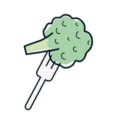 Fresh broccoli to prepair natural salad vector