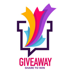 giveaway share to win reward for activity vector image