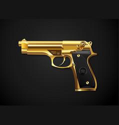 gun gold vector image