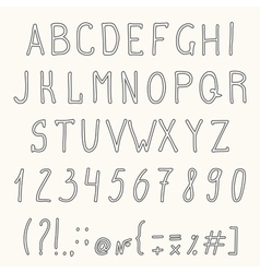 Hand drawn grunge font Hand drawn letters vector