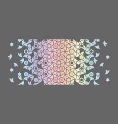 Holographic and rainbow border islamic vector