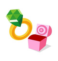 icon ring vector image