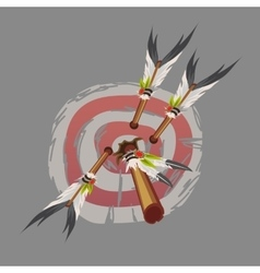 Indian arrows hit the target darts vector image
