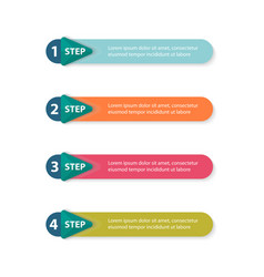 infographic arrows with 4 vector image