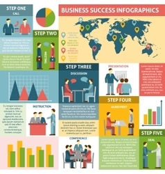 Infographic Five Steps For Success Business vector