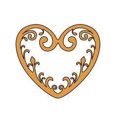 Isolated gold and ornament heart design vector