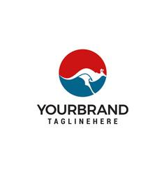 kangaroo logo designs template vector image